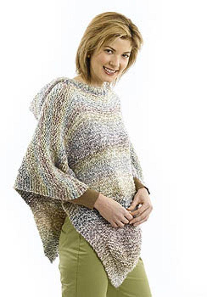 Pretty Poncho In Lion Brand Homespun 40706 Free Knitting
