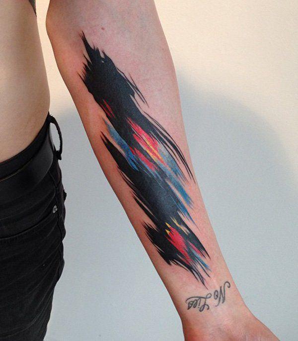 110 Awesome Forearm Tattoos Black Watercolor Tattoo Tattoos