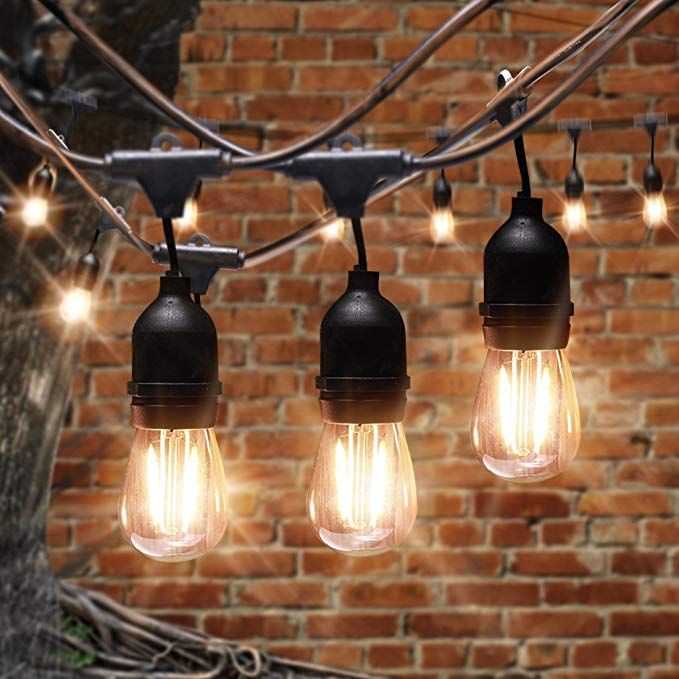 0e4be3a8fd15f6 AVAWAY 48Ft LED Outdoor String Lights Waterproof, Commercial Grade Patio  Lights/Backyard Lights with