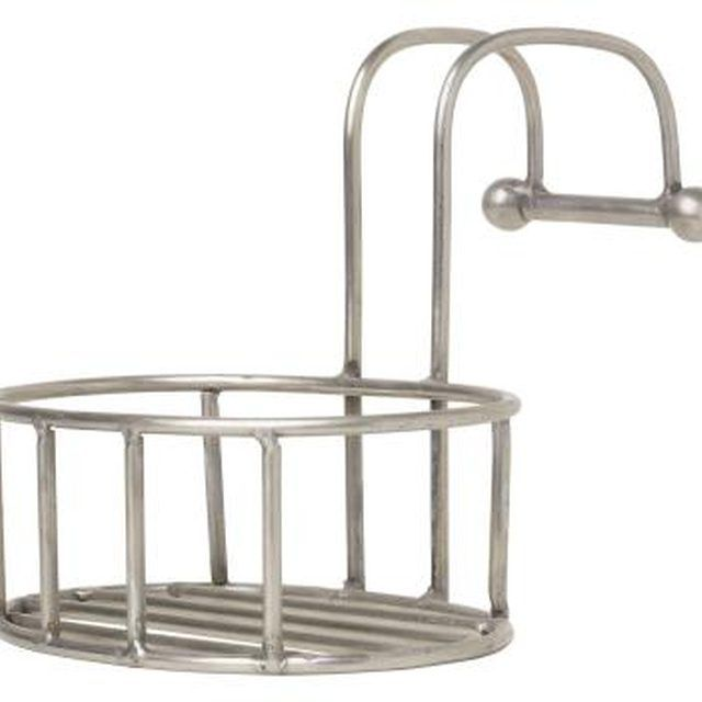 Make your stainless steel shower caddie like new by removing rust spots.
