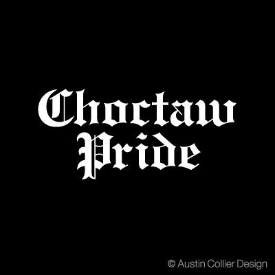 "6.5/"" CHOCTAW PRIDE vinyl decal car window laptop sticker native american"
