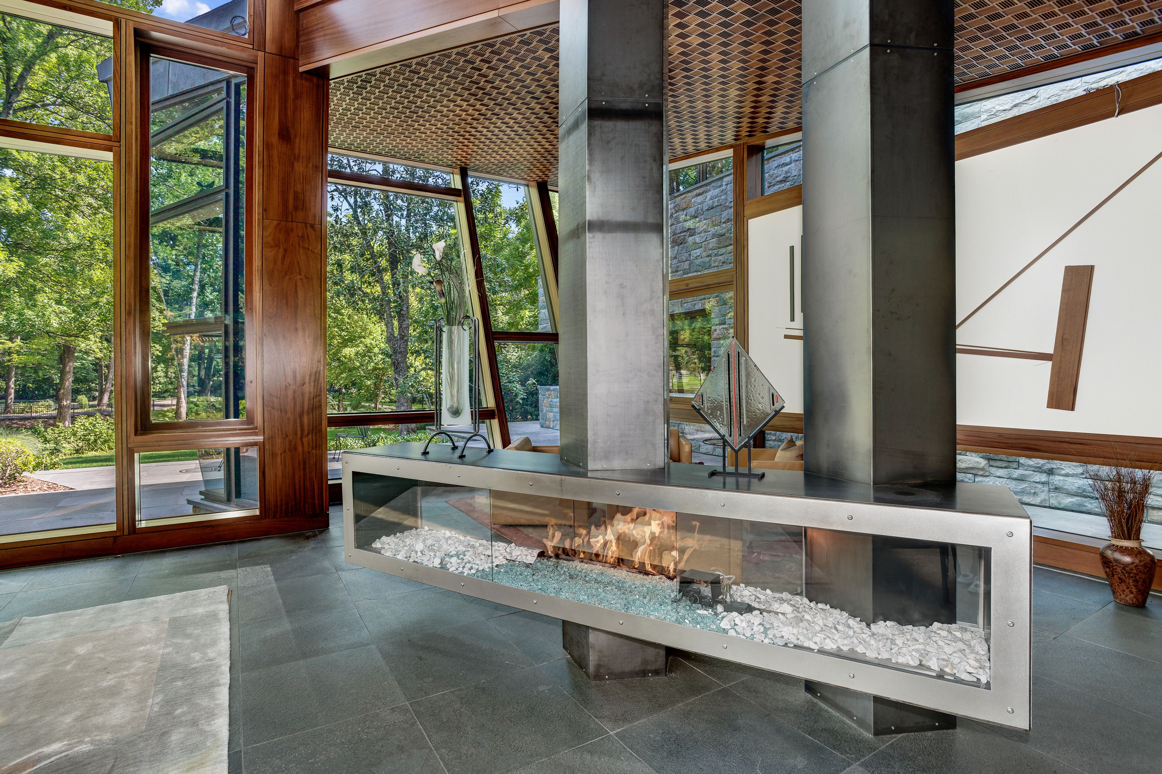 photo 5 of 8 in proof that a modern fireplace can be the defining rh pinterest com