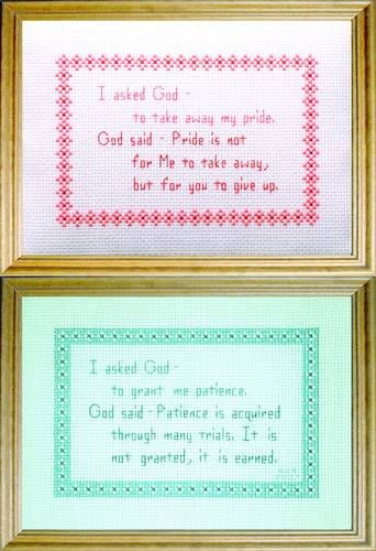 God Messages 2 Patience Pride cross stitch pattern.