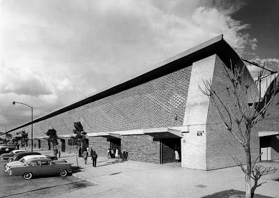 MERCADO DE LA MERCED, Mexico City, Enrique Del Moral, 1956-1957