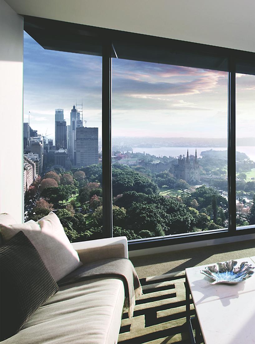 apartment view over Hyde Park Sydney