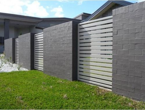 15 Most Adorable Concrete Fence Ideas For Your Backyard Fence Design Backyard Fences Brick Fence