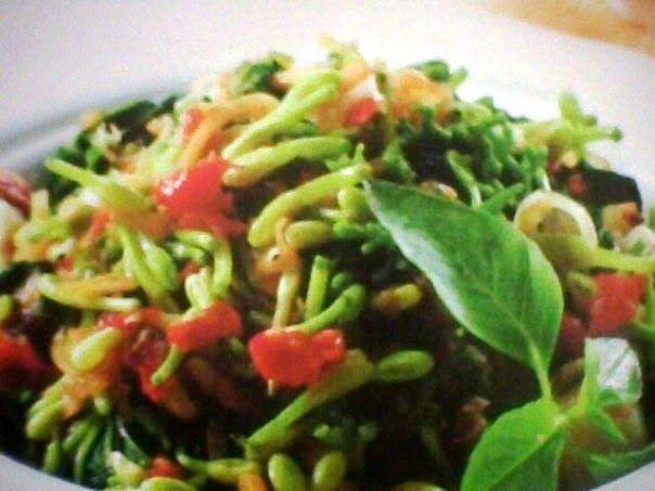 Kumpulan resep masakan online: Resep Tumis Kangkung Bunga Pepaya