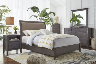 modus furniture city ii gray 4 piece king bedroom set queen rh pinterest com
