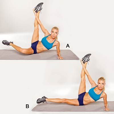 This move is great for your core and inner thighs. | Health.com #fitness #workout