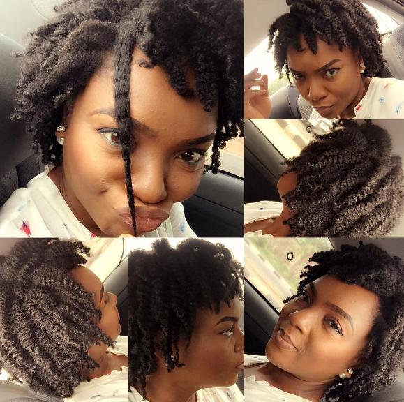 PRIKAN LOOKS: Chioma Chukwuka's Natural Hair Will Surely
