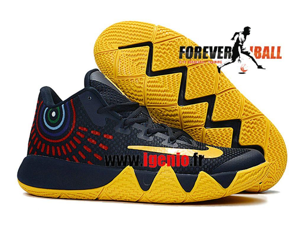 Nike Kyrie 4 Chaussures de BasketBall Pas Cher Homme Noir