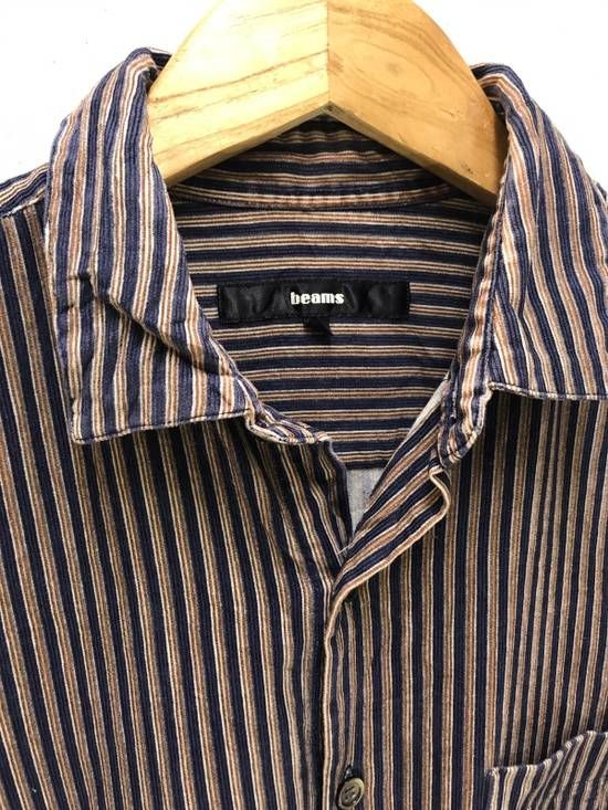 Made in Japan Beams Flannel Striped Shirt Button Up | Down