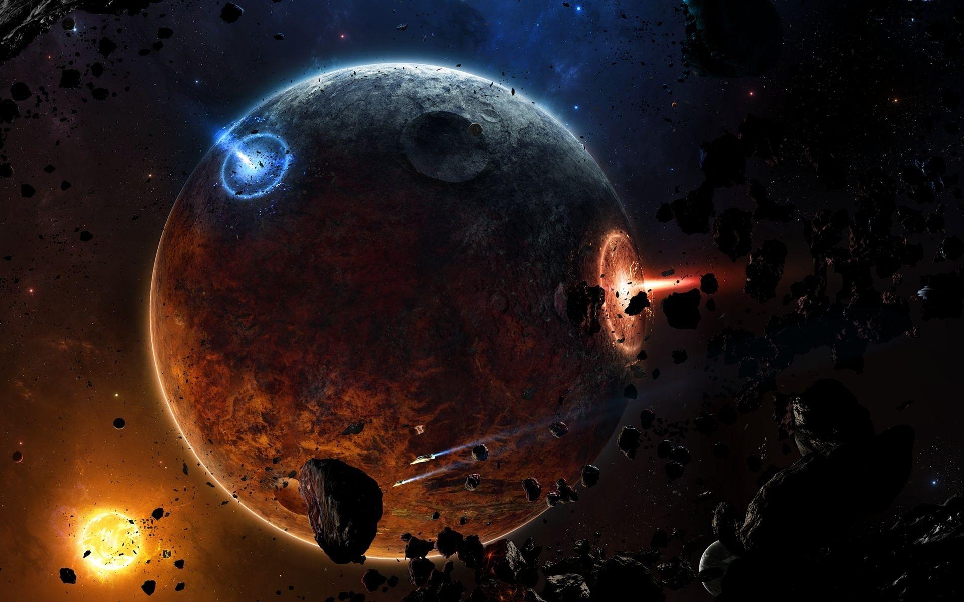 Sci Fi Spaceship Planet Fire Fi Fire Planet Sci Spaceship Planets Wallpaper Wallpaper Space Space Artwork