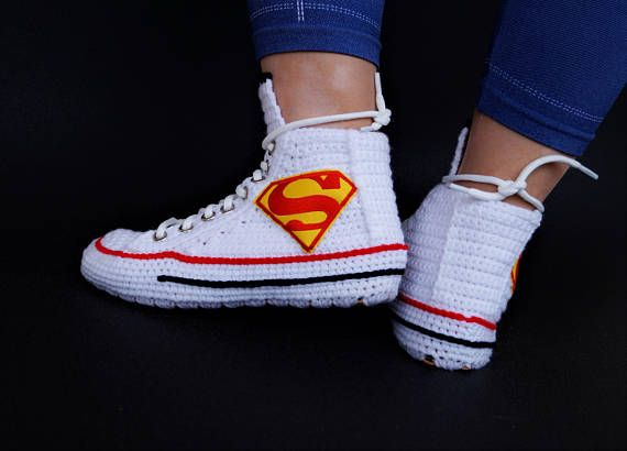 Knitting Crochet Converse Chuck Taylor All Star Hi Supermen