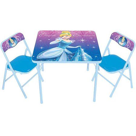 disney cinderella activity table and chairs set blue products in rh pinterest com