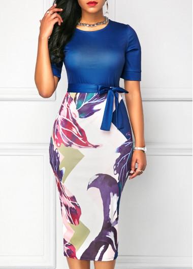 Womens Ladies Contrast Block Stripes Side Split Jersey Cap Sleeves Maxi Dress