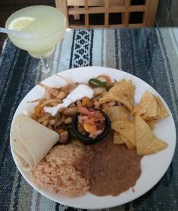 Veggie meal & Lime Margarita