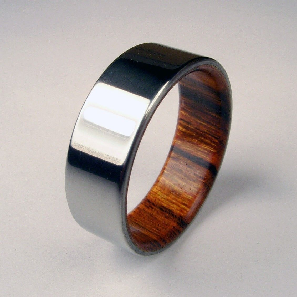 Rosewood and Titanium Ring Rosewood Interior with by
