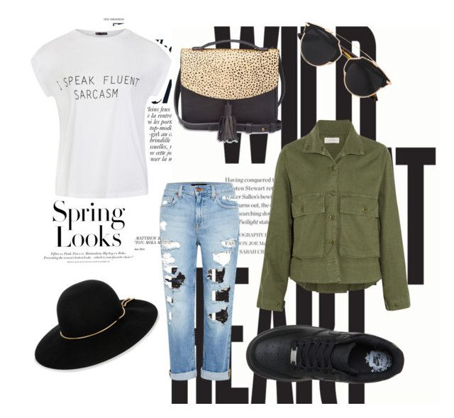 """Untitled #35"" by clodfever on Polyvore featuring Anja, H&M, Ally Fashion, The Great, Genetic Denim, NIKE, Lucky Brand, Christian Dior and Lanvin"