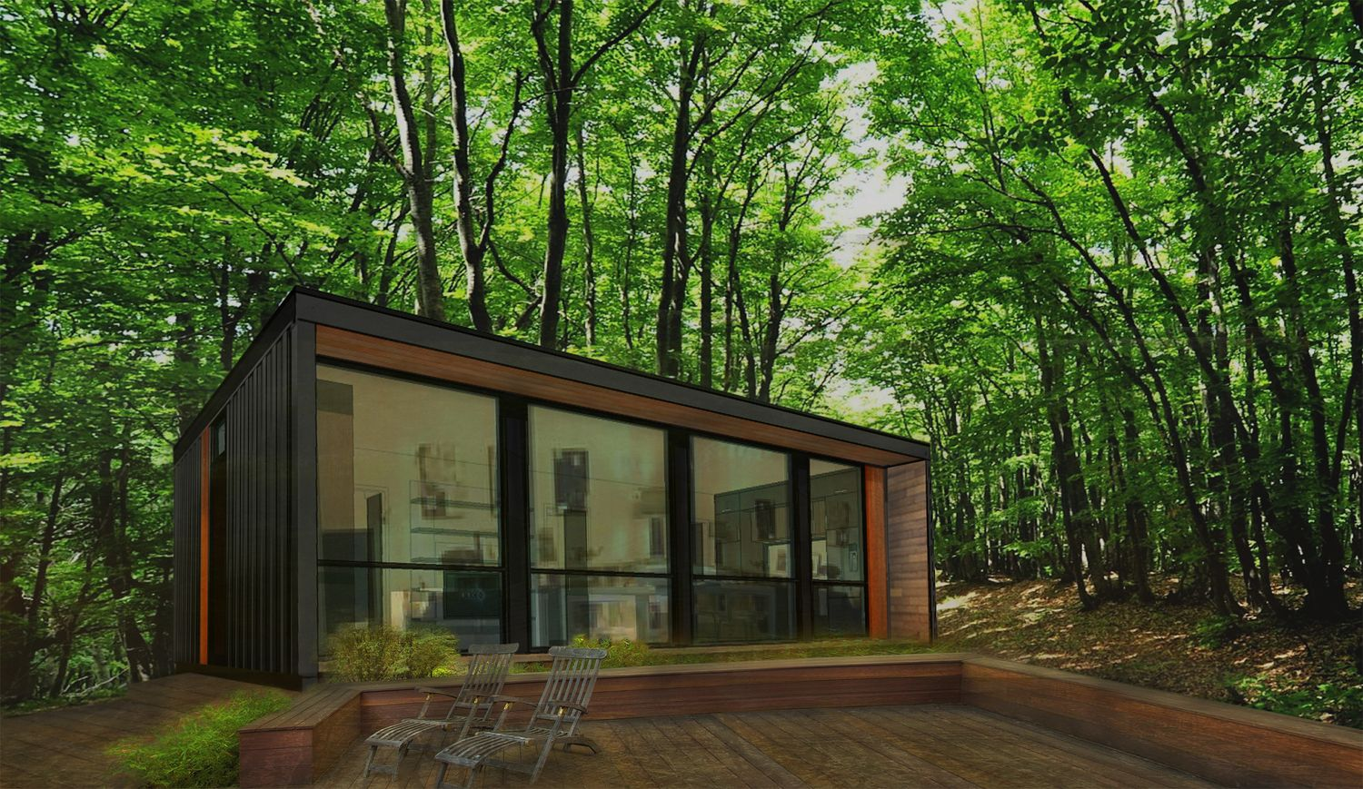 H04 Two Bedroom Modular Shipping Container Cabin