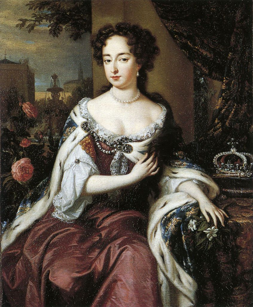 Jan Verkolje, Queen Mary II, 1685. Mary II of England (1662 - 1694). She was married to William III and together to took the crown of England from her Catholic father, James II.