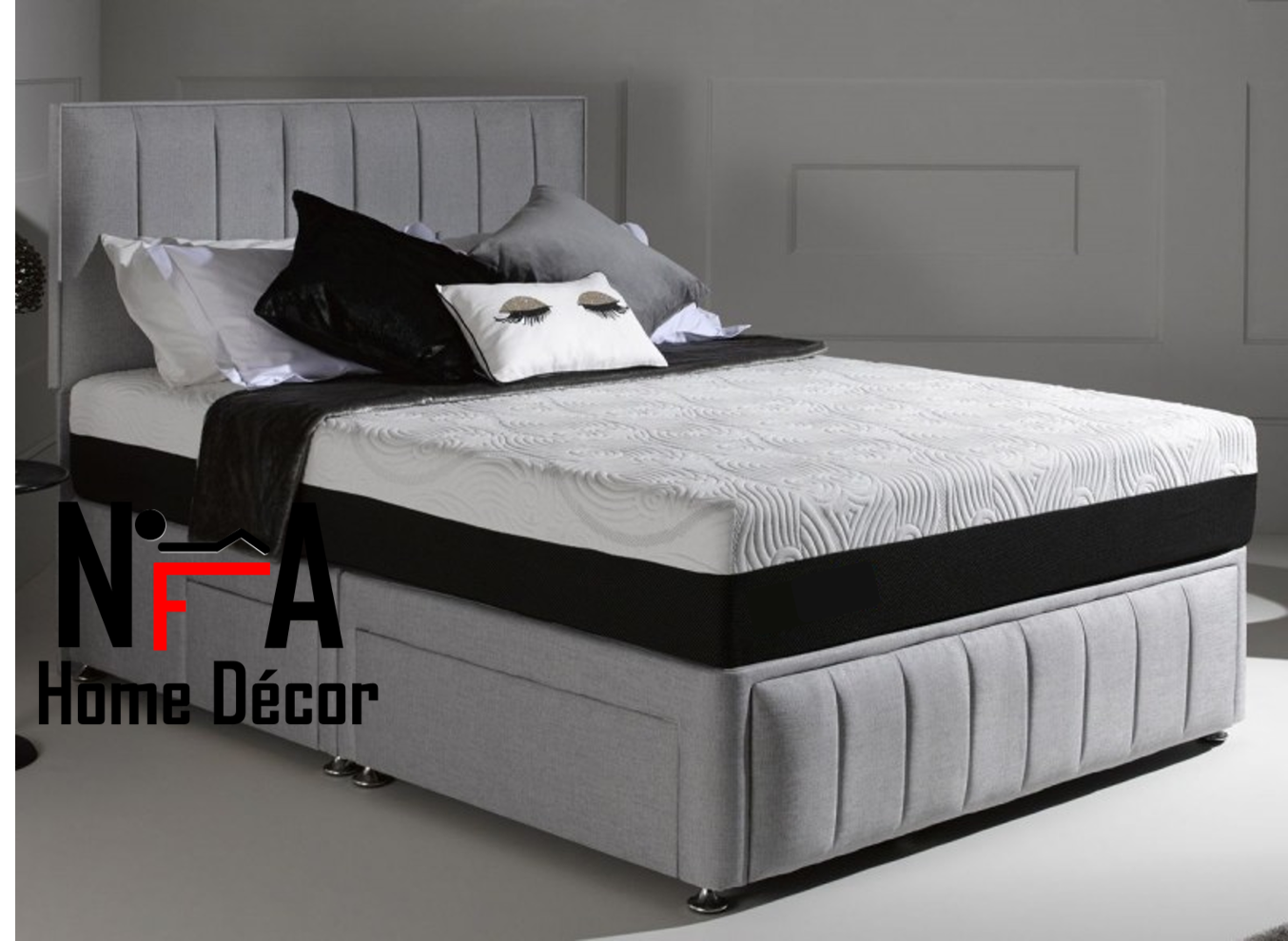 Divan bed base super king divan bed base with drawers for Divan footboard