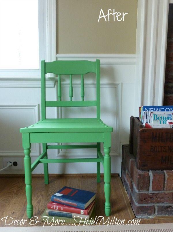 DIY Annie Sloan CP Antibes chair makeover