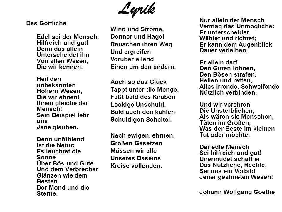 Johann wolfgang von goethe gedichte natur