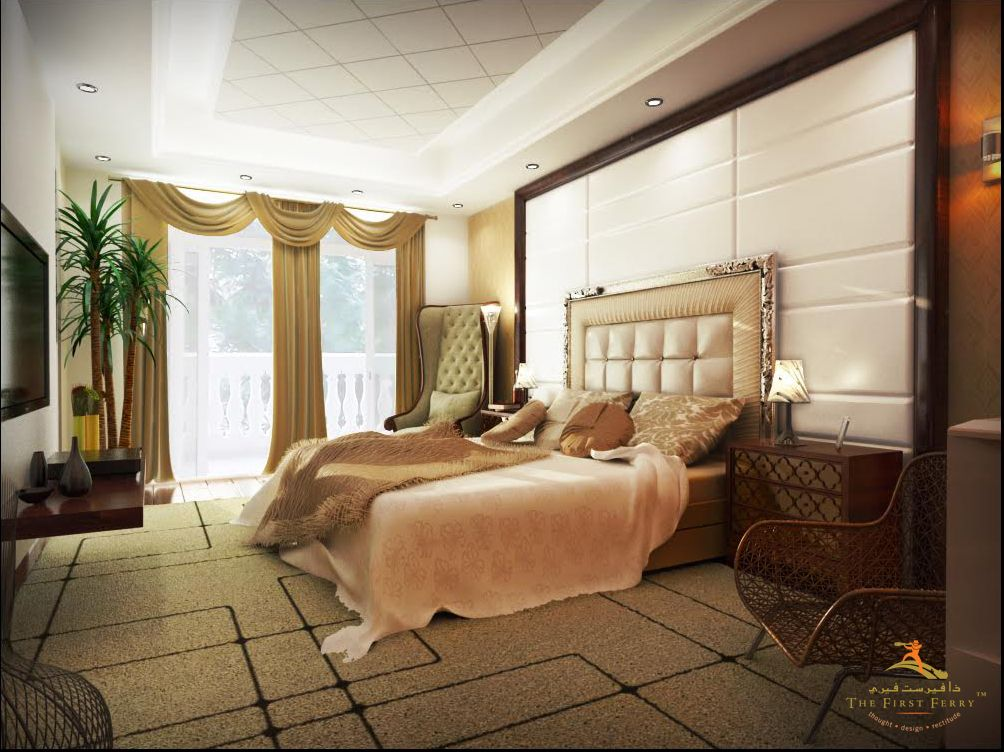 This luxurious bedroom design by TheFirstFerry is