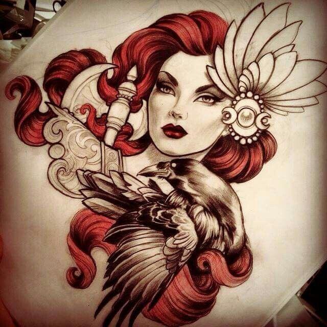 Pin Up Neo Traditional Tattoo Pinterest Tattoos Tattoo