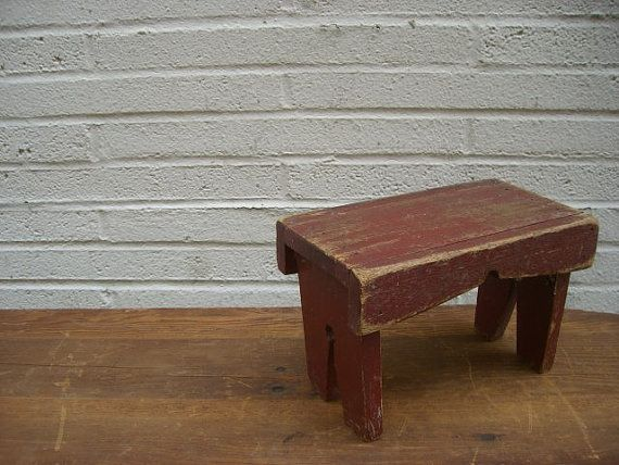 vintage rustic wooden step stool riser by simply2nds on etsy rh pinterest com
