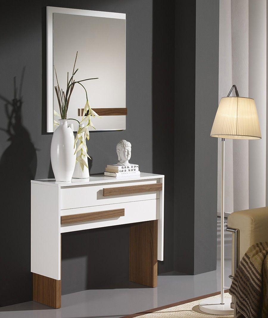 Element D Entrée Moderne meuble d'entrée moderne + miroir massimin, disponible en 2 coloris