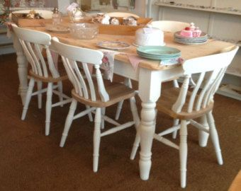 Pine Table Farmhouse Pine Kitchen Table ~ 4Ft5Ft6Ft Bespoke Brilliant Pine Dining Room Table And Chairs Inspiration Design