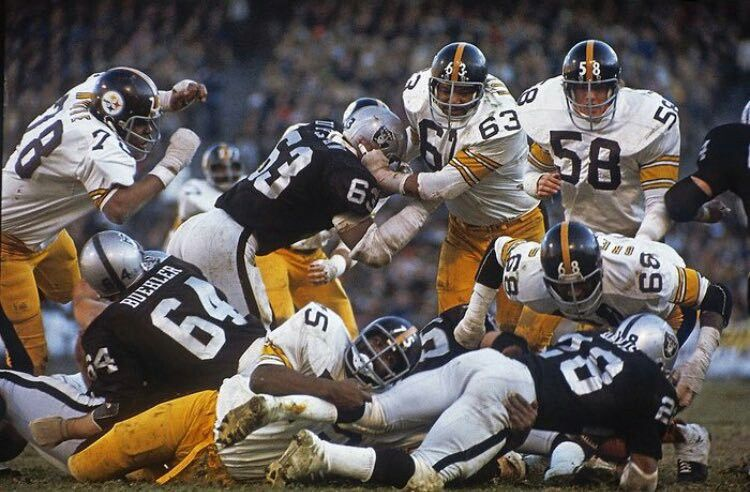 Steel Curtain vs. the Raiders. Pittsburgh steelers