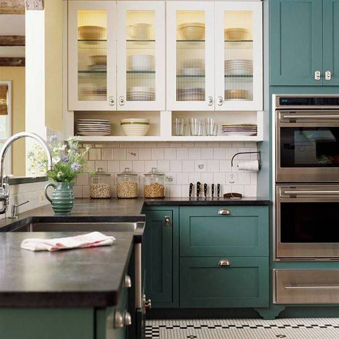 pin by breanna hastings on home kitchen cabinets two tone rh pinterest com