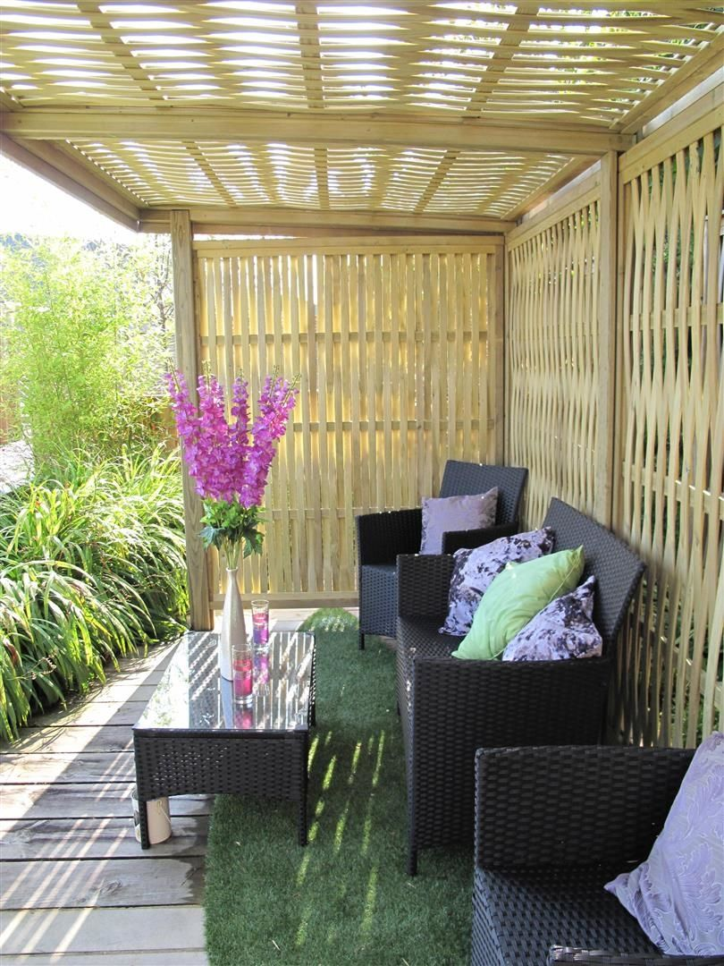 Inside The Woven Retreat Garden Shelter #shelter #garden #design #home  #seating