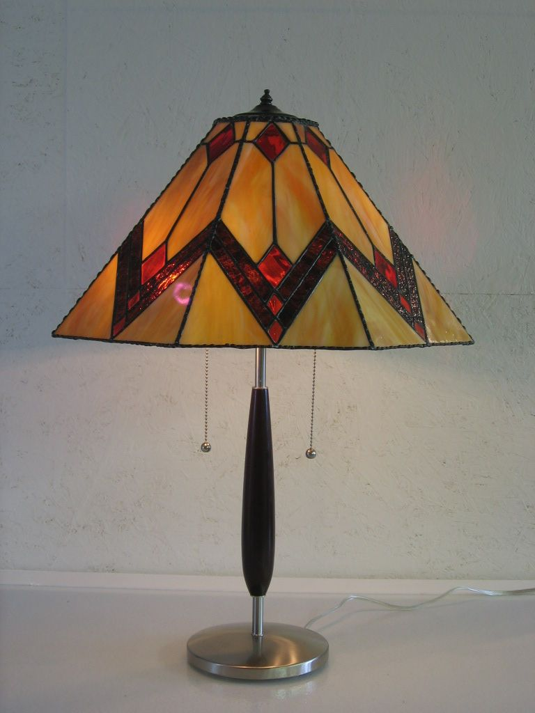 Prairie Style Lamp Serenity Now Stained Glass Lamp