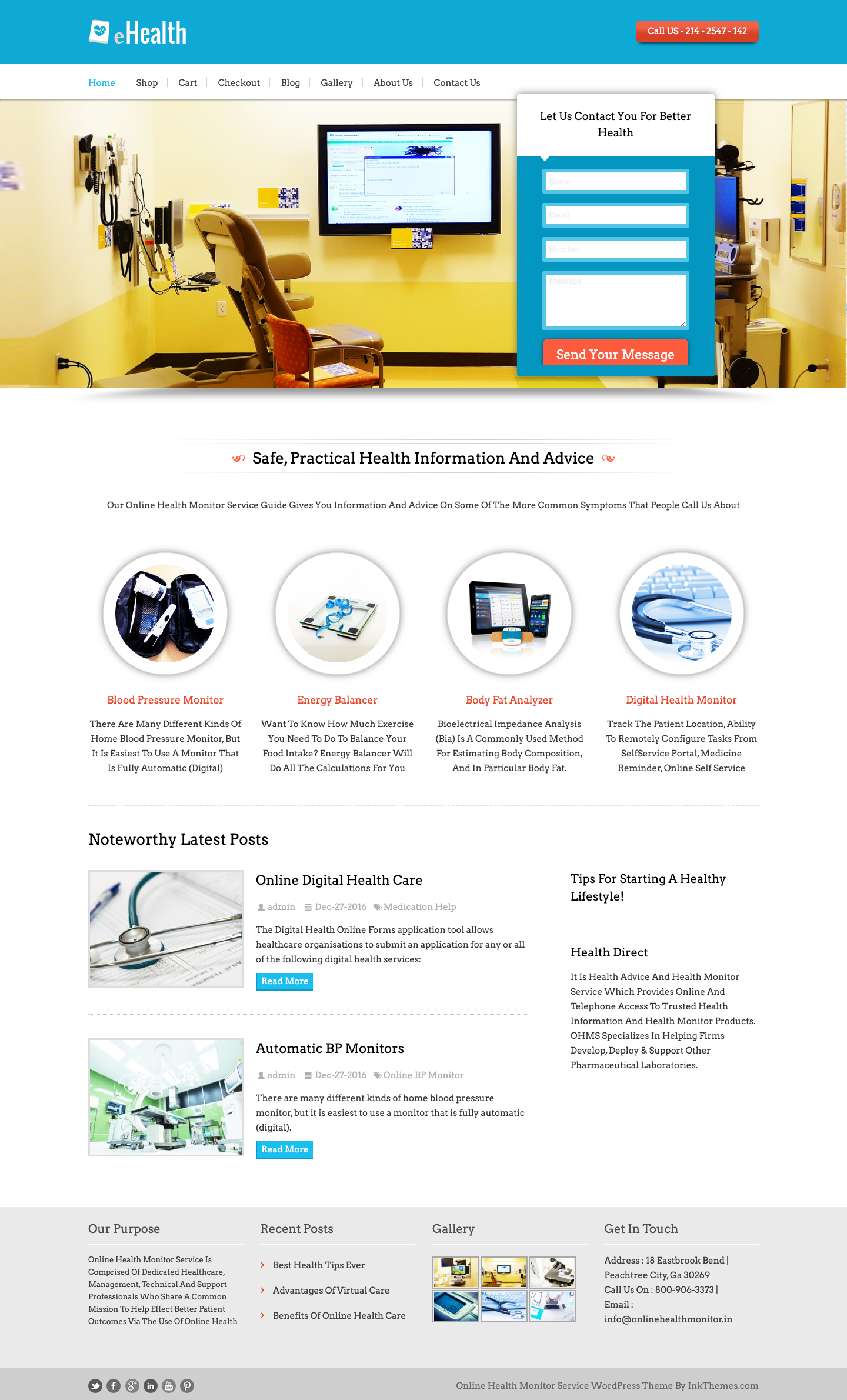 Ehealth Online Health Monitor Service Wordpress Theme And Template Website Design Inspiration Website Design Templates