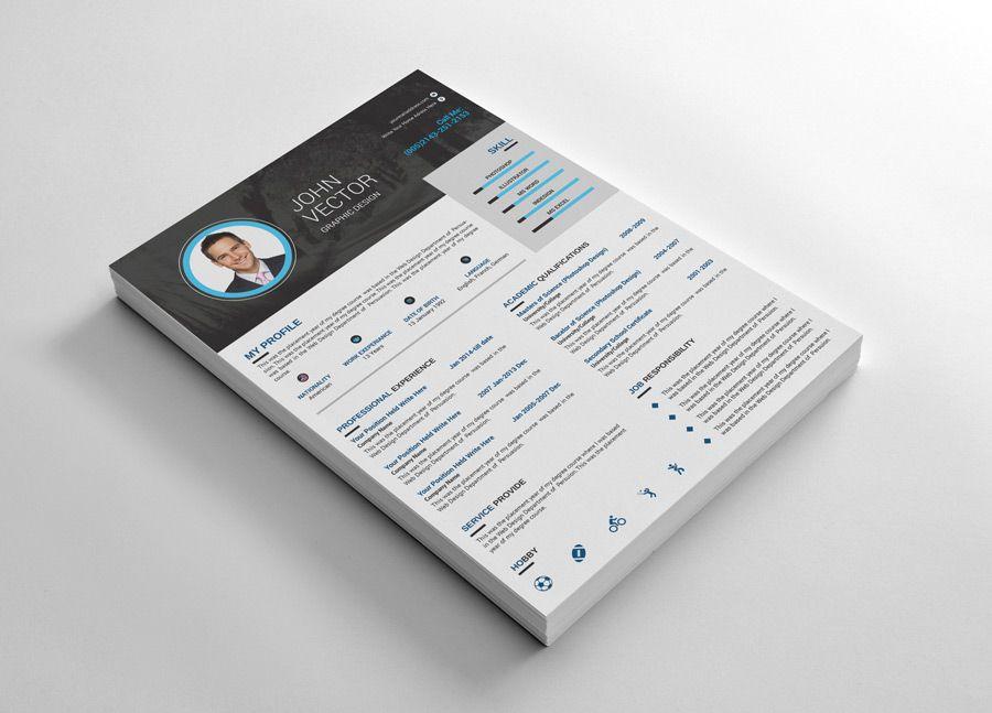 Cool Resume Cv Design Images Garden Royaty Free Stock Images In 2020 Resume Design Creative Cv Design Template Cv Design