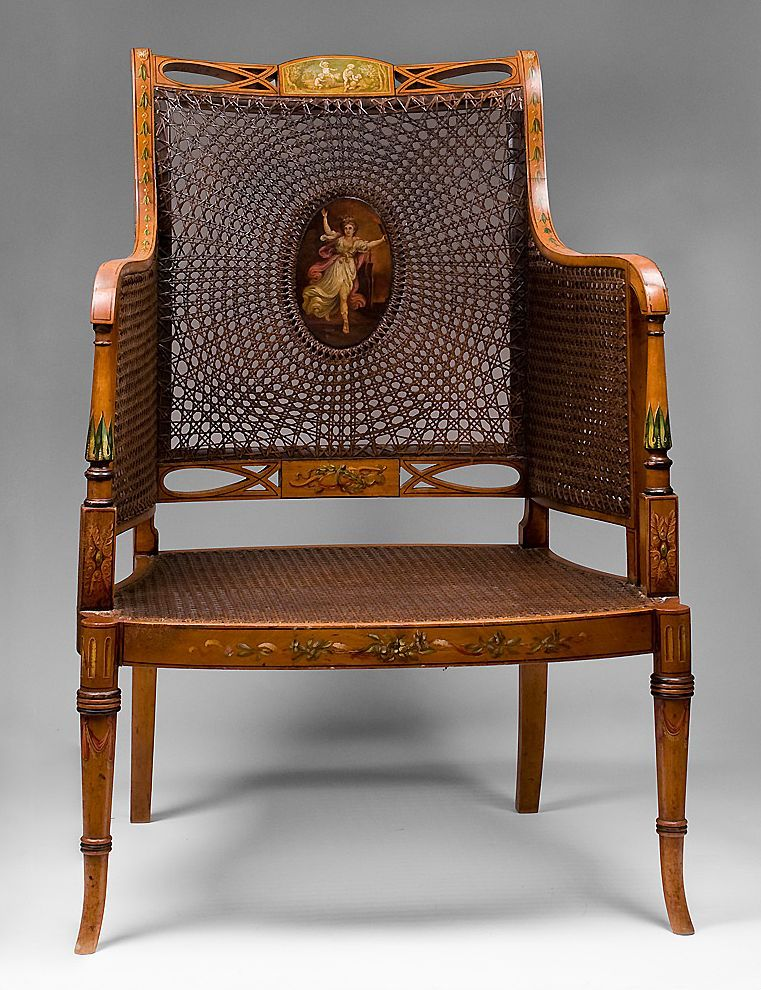 pair of george iii painted satinwood armchairs in the style of rh pinterest com
