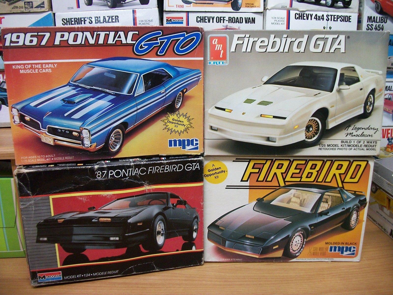 lot of 4 pontiac model box tops 67 gto 82 firebird 87 trans am rh pinterest fr