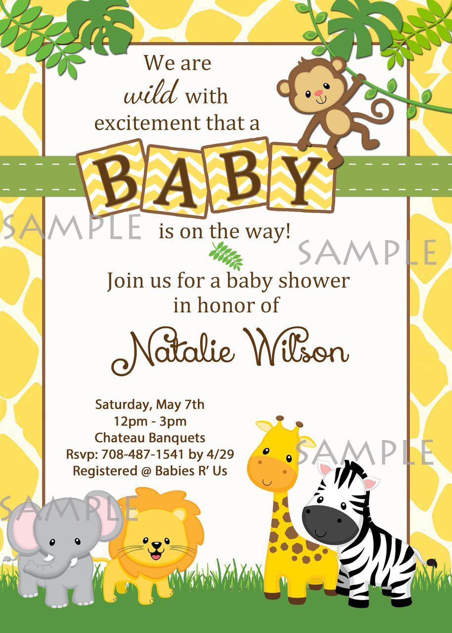 Animals safari jungle baby shower invitations shower invitations animals safari jungle baby shower invitations filmwisefo