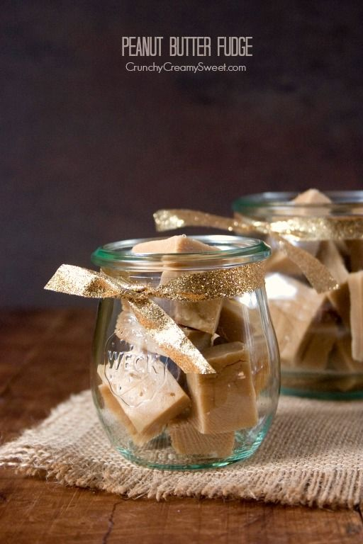 Peanut Butter Fudge Recipe | Perfect gift idea for the holidays from Crunchy Creamy Sweet