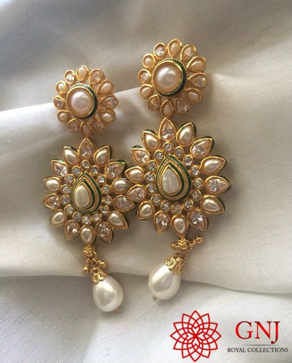 Unabashedly bold and intrinsically artistic, these earrings can truly compliment an indo western party outfit for an evening occasion!