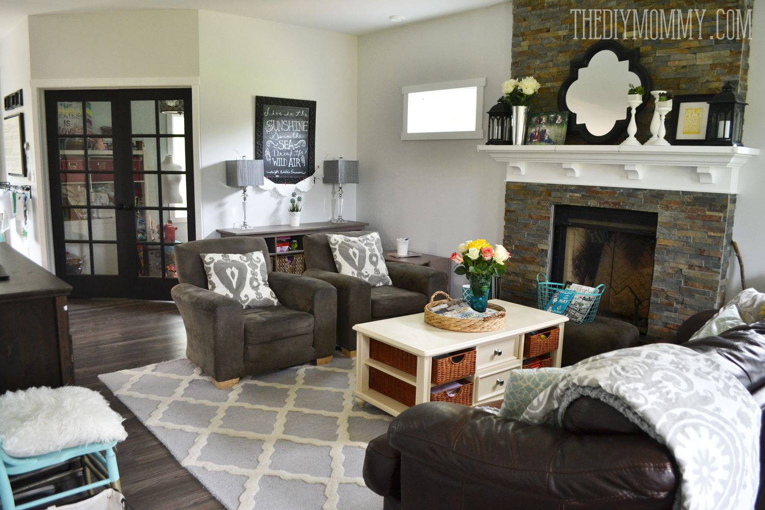 Rustic glam country living room