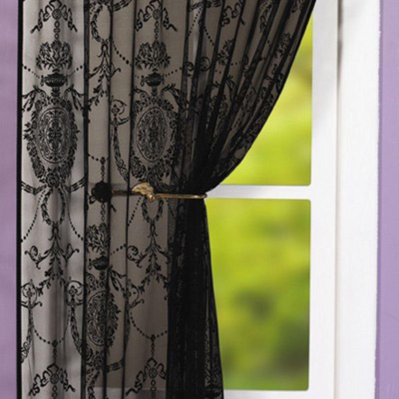 Holly black single curtain bethus room pinterest holly black