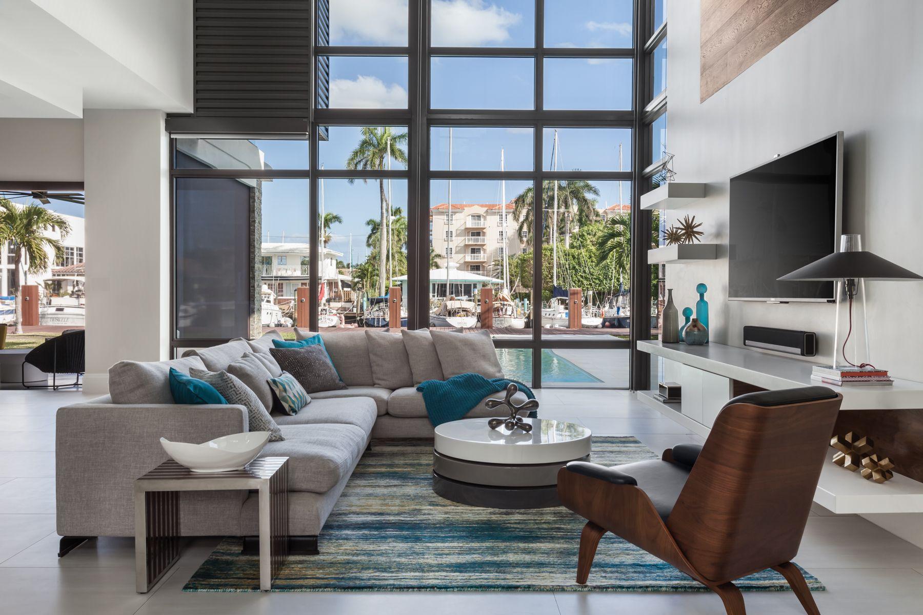Modern Fort Lauderdale Living Room on the