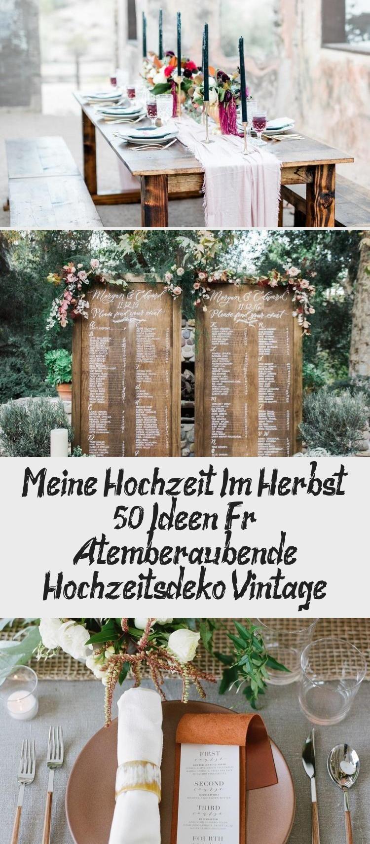 Meine Hochzeit Im Herbst: 50+ Ideen Für Atemberaubende Hochzeitsdeko Vintage #herbstlichetischdeko