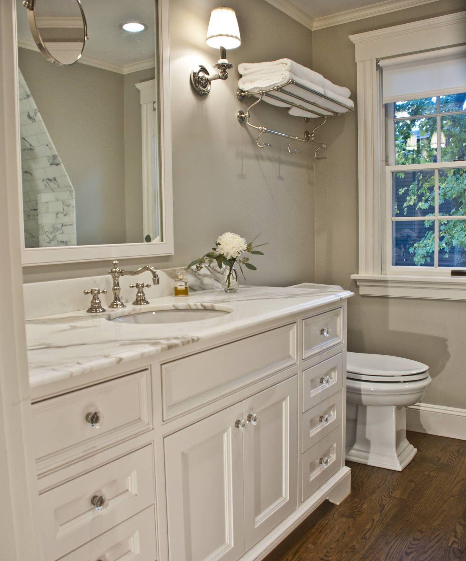 gray and white bathroom with dark flooring bathroom redesign ideas rh pinterest com
