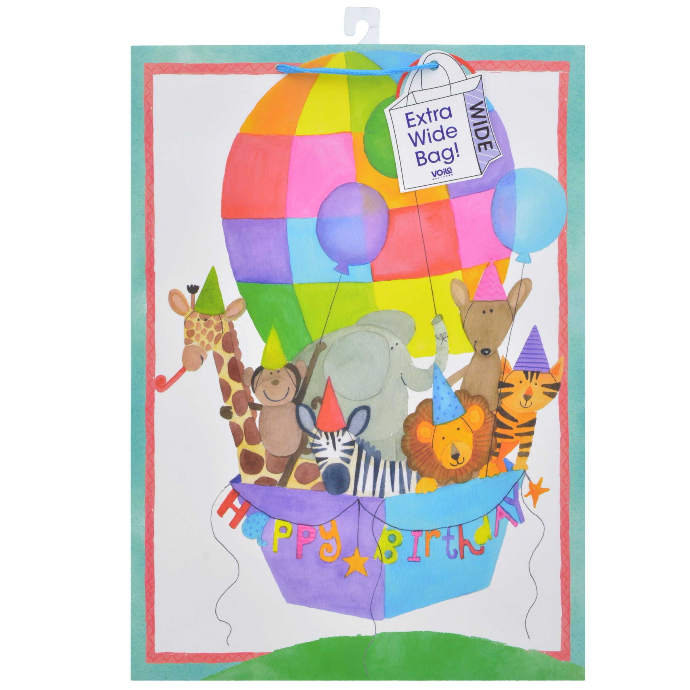 Bulk Voila Extra Large Youthful Animal Themed Birthday Gift Bags At DollarTree